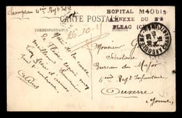 CACHET HOPITAL N°40 BIS ANNEXE DU N° 8 FLEAC (CHARENTE) - WW I