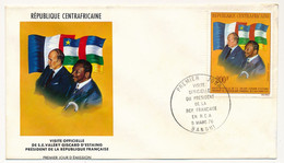REP CENTRAFRICAINE => FDC - Visite Officielle De Valéry Giscard D'Estaing - 5 Mars 1976 - Bangui - Central African Republic
