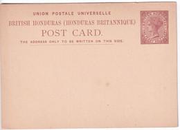 BRITISH HONDURAS - ENTIERS POSTAUX - CARTE NEUVE TYPE VICTORIA - British Honduras (...-1970)
