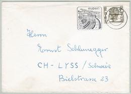 Belgien / Belgique, Brief Eupen - Lyss (Schweiz), Wesertalsperre, Staumauer / Barrage / Dam, Wasser / Eau / Water - Acqua