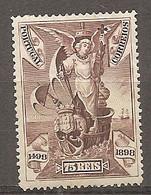 1898- Yv. N° 151  *  75r  Vasco De Gama  Cote  57 Euro  BE R 2 Scans - Unused Stamps