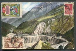 14131 Russia Soviet Union 1925 Academy Of Science Lomonosov + NON Postal CHARITY Stamp Georgia Postcard Cancel Tiflis - Briefe U. Dokumente