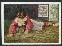 14154 Russia Soviet Union 1926 Homeless Children Wmk Mi#313Y+ NON Postal CHARITY Stamp Postcard Cancel - Briefe U. Dokumente