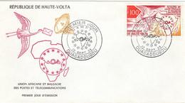 HAUTE VOLTA 1973 COMMUNICATIONS UPU UAMPT RESTRICTED POSTAL UNIONS FDC - UPU (Universal Postal Union)