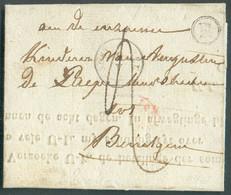 LAC De OOSTERZEELE(type 18) Le 8 Mai 1845 + Boîte R De GAVER VersBoesingem; Port '2'-TB - 17518 - 1830-1849 (Unabhängiges Belgien)