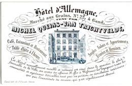 DE 489 - Carte Porcelaine D'Hotel D'Allemagne, Gand, Imp. P. Vande Steene, Gand - Sin Clasificación