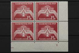 Saarland, MiNr. 447, 4er Block, Ecke Re. Unten, FN 2, Postfrisch / MNH - Unclassified