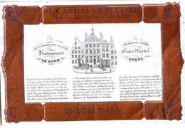 DE 491 - Carte Porcelaine Sur Papier D'Hotel Aux Armes De Zelande, Gand, - Sin Clasificación