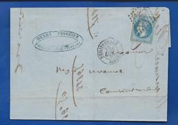 Lettre Avec Timbre Napoléon  III  Lauré N° 29  Oblitération  Philippeville Algérie  24 Juin 1868 - 1849-1876: Periodo Classico