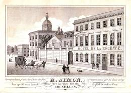 DE 493 - Carte De Commerce D'Hotel De La Regence, Bruxelles Imp. Schildknecht, Bruxelles - Sin Clasificación