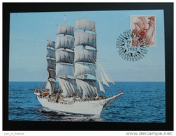 Grand Voilier Tall Ship Carte Maximum Maxi Card Norvège Norway - Barcos