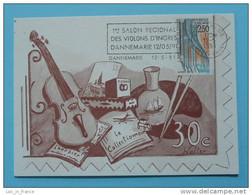 Carte Maximum Maxi Card Violin Violon D'Ingres Dannemarie - Musica