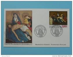 FDC Edition Numismatique Pieta Enguerrand Quarton Ref 142 - Religión