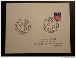 Obliteration Sur Lettre Postmark On Cover Semaine Du Cuir Leather Paris 1967 - Vaches