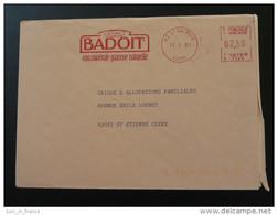 EMA Sur Lettre Slogan Meter On Cover Eau Water Badoit St-Galmier Loire 1991 - Eau