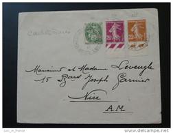 Cachet Horoplan Sur Lettre Cour Cheverny 1934 Loire Et Cher - 1921-1960: Moderne
