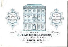 DE 498 - Carte Porcelaine D'Hotel De L'Union, Bruxelles - Sin Clasificación