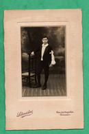 Photographie Ancienne Photographe Schneider Bolbec Seine Maritime  Format Cabinet (11cm X16,5cm) - Persone Anonimi