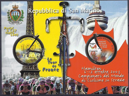 San Marino 2003 Tour De France Michel Nr. 2101 - 2102 / Block 33 - Unused Stamps