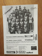 Cyclisme - Carte Publicitaire TAMARO GERBER :  Le Groupe - Cycling
