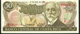 COSTA RICA  P257  50  COLONES   2.6.1993  UNC. - Costa Rica