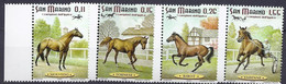 San Marino 2003 Cavalli / Rennpferde Michel Nr. 2087 - 2090 - Unused Stamps