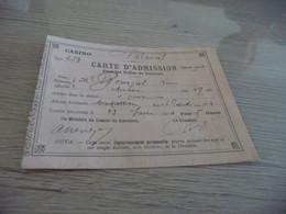 Carte D'admission 1910 Dans Les Salles De Baccara Casino De Palavas Les Flots - Historische Documenten