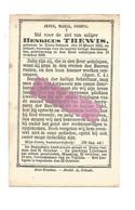 DD 754. HENRICUS THEWIS - °KLEIN-GELMEN 1813 En Aldaar + 1882 - Devotion Images