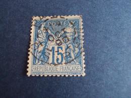 "1876-98  Oblitéré  - N°   90  ""  SAGE II - Bleu  ""   ""   Paris Distribution 1890   ""   Net  4  Photo   14 - 1876-1898 Sage (Type II)"