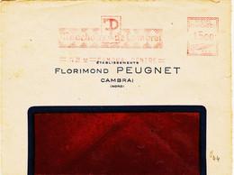 France , De  Cambrai Centre En 1950, Machine Havas C Pub Mouchoir De Cambai R  TB - Annullamenti Meccaniche (Varie)