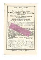 DD 755. GUILIELMUS DEJAZE Wed. E. Strauven En Echtg. M. Coperdraet - °METTECOVEN En + KLEIN-GELMEN 1883 (79j.) - Devotion Images