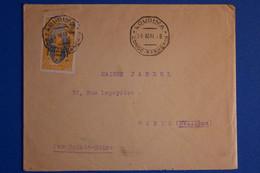 M10 MOYEN CONGO BELLE LETTRE .1928 LOUDIMA POUR PARIS  FRANCE+ AFFRANCHISSEMENT INTERESSANT - Covers & Documents