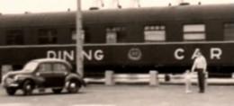 1955 Dunkeqrue  Automobile Train Wagon Restaurant DINING CAR Photo 5.5x8.5cm Sans Marge - Trenes