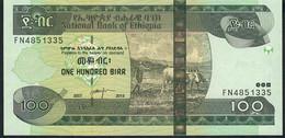 ETHIOPIA P52g 100 BIRR 2007 / 2015 #FN       UNC. - Ethiopia
