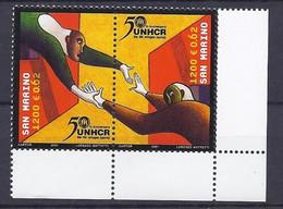 San Marino 2001 UNO Rifugiati / UN Flüchtlinge Michel Nr. 1974 - 1975 - Unused Stamps