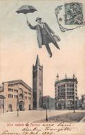 Italie - N°73784 - Una Volata A PARMA - Homme Dans Le Ciel Avec Un Parapluie - Parma