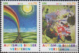 UN - Vienna 746-747 Couple (complete Issue) Unmounted Mint / Never Hinged 2012 Autismus - Nuevos