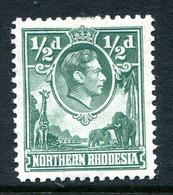 Northern Rhodesia 1938-52 KGVI Definitive - ½d Green HM (SG 25) - Rhodésie Du Nord (...-1963)