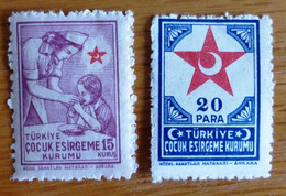 1943 Selection Of Mint/hinged Stamps From Turkey-Child Welfare No Z-231 - Unclassified