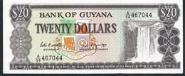 GUYANA  P27  20 DOLLARS  1989 #A/56 Signature 7  UNC. - Guyana