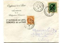 St GERMAIN-EN-LAYE - Congrès De La Paix Avec Affranchissement Mixte Congrès De La Pais 10/9/1919 - 1877-1920: Semi Modern Period