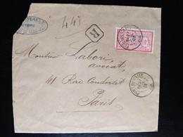 Enveloppe Recommandé Pont-de-Vaux à Paris Timbre Merson N° 119 - 1900-27 Merson