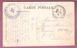 Cachet Hôpital Auxiliaire N°22 Bordeaux Sur Cpa Bordeaux 1916 Ww1 - 1877-1920: Periodo Semi Moderno