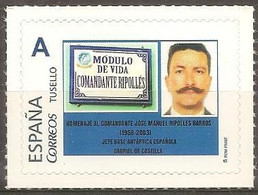 "SPAIN - TUSELLO - Antarctica - Tribute To Commander Ripollés - Head Of Base ""Gabriel De Castilla"" - Unclassified"