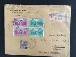 Recommandé En Partance De Monaco Pour La Californie 1932 Numéro 50  2x97. 2x106 - Marcophilie