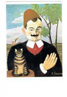 Cpsm - Le Douanier Rousseau -Portrait De Pierre LOTI - Chat - Fumeur Cigarette Bague Moustache - - Pittura & Quadri