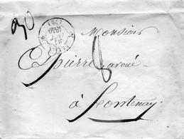 Cachet 12 LUCON (79) Pour FONTENAY Le 21/10/40,31gr,taxe  8,L.S.C. - 1801-1848: Precursori XIX