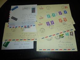 LOT DE 8 LETTRES Au DEPART DE MAYOTTE 1997 AVEC AFFRANCHISSEMENT MIXTE SURCHARGE MAYOTTE ET TIMBRE DE FRANCE -FRANCE (V) - Briefe U. Dokumente