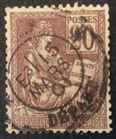 113 ° 1 Départ Mouchon 20 C Brun Lilas 15/3/1901 Oblitéré - 1877-1920: Semi-Moderne