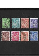 1806 La Série Complète Type Iris YT 649-650-651-652-653-654-656 Oblitérés - Usati